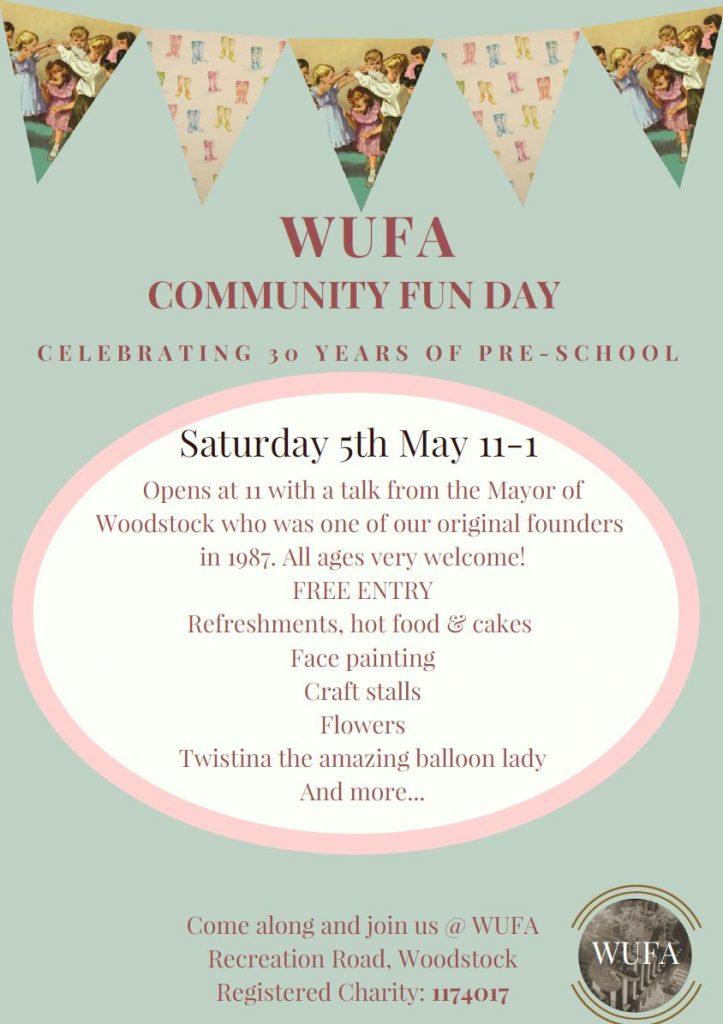 Wufa Community Fun Day 5 May 2018 poster